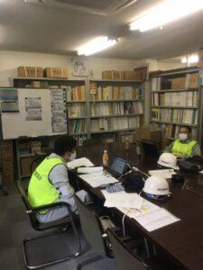 関西地質調査業協会対策本部の状況